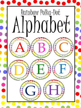 Rainbow Polka Dot Alphabet