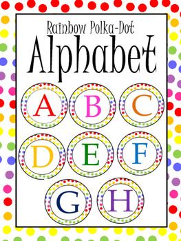 Rainbow Polka Dot Alphabet