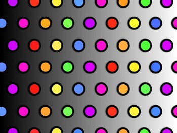 Rainbow Polka Dot Background Papers