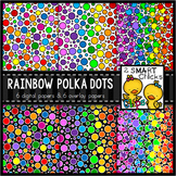 Rainbow Polka Dot Background and Overlay Papers