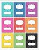 Rainbow Polka Dot Binder Insert Binder Covers (Scroll) 8.5