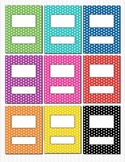 Rainbow Polka Dot Binder Insert Folder Covers (box) 8.5 x 11 Editable