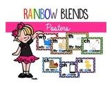 Rainbow Polka Dot Blend Posters