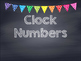 Rainbow Polka Dot Chalkboard Clock Numbers