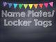 Rainbow Polka Dot Chalkboard Name Plates- Locker Tags