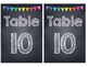 Rainbow Polka Dot Chalkboard Table Numbers