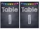 Rainbow Polka Dot Chalkboard Table Numbers