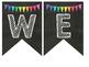 Rainbow Polka Dot Chalkboard Welcome Banner