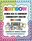 Rainbow Polka Dot & Chevron Classroom Decor {EXTRAS}
