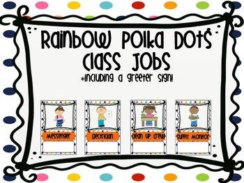 Rainbow Polka Dot Class Jobs