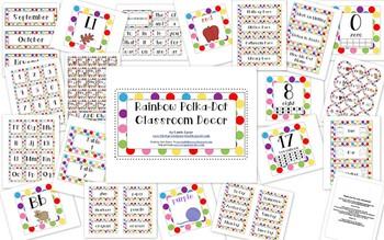 Rainbow Polka-Dot Classroom Decor