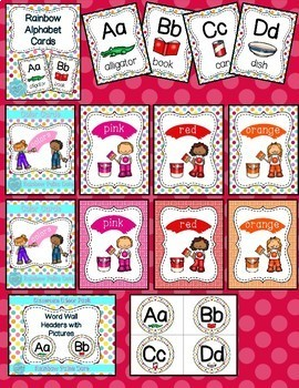 Rainbow Polka Dot Classroom Decor Bundle