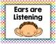 Rainbow Polka Dot Classroom Decor- Whole Body Listening Posters