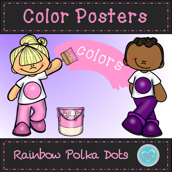 Rainbow Polka Dot Color Posters
