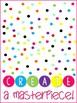 Rainbow Polka Dot Confetti Posters
