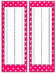 Rainbow Polka Dot Desk Name Plates