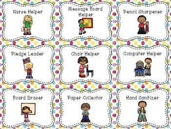 Rainbow Polka Dot Job Helpers