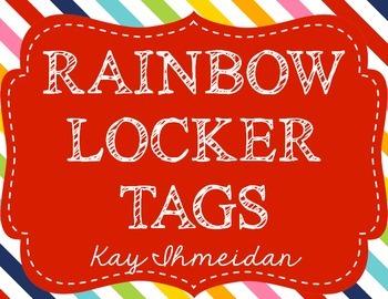 Rainbow Polka Dot Locker Labels