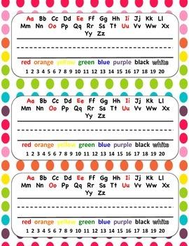 Rainbow Polka Dot Name Tags!