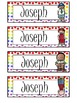 Rainbow Polka-Dot Name Tags