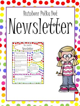 Rainbow Polka Dot Newsletter