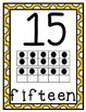 Rainbow Polka Dot Number Line (0 - 20)