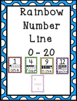 Rainbow Polka Dot Number Line (0 - 20)
