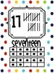 Rainbow Polka Dot Number Posters