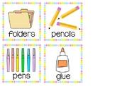 Rainbow Polka Dot Supply Labels - Fits Target Adhesive Lab
