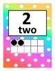 Rainbow Polka Dot Ten Frames number poster