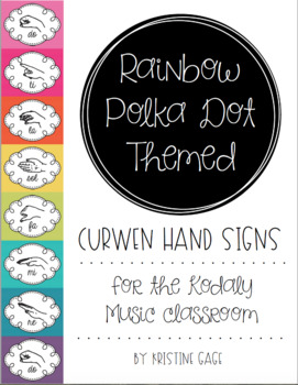Rainbow, Polka Dot Themed Curwen Hand Signs