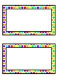 Rainbow Polka Dot Tub Labels - Basic