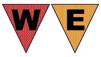 Rainbow Polka Dot Welcome Back Banner