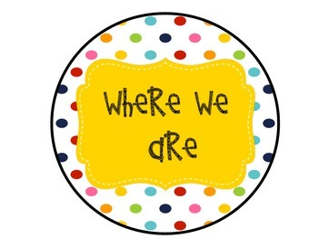 Rainbow Polka Dot Where We Are Posters