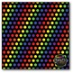 Rainbow Polka Dots on BLACK Digital Papers {Commercial Use