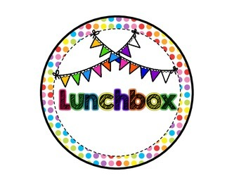 Rainbow Polkadot Lunch Choice Clip Chart