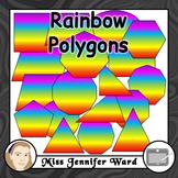 Rainbow Polygons Clipart