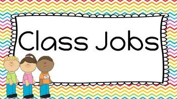 Rainbow Pop Class Job Signs