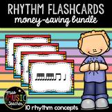 Rainbow Stripes Rhythm Flashcards (BUNDLE)