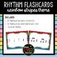 """Rainbow Stripes Rhythm Flashcards """"Quarter Rest"""""""