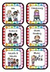 Rainbow Pop Schedule Cards/Visual Timeable