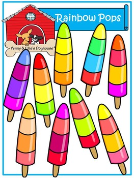 Rainbow Popsicles *Penny & Ellie's Doghouse Clipart*