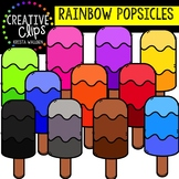 Rainbow Popsicles: Summer Clipart {Creative Clips Clipart}