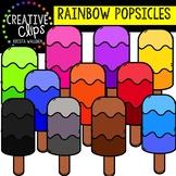 Rainbow Popsicles: Summer Clipart {Creative Clips Clipart}