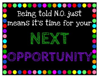 Rainbow Poster-NO Next Opportunity