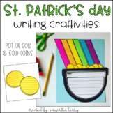 Rainbow Pot of Gold & Gold Coins Writing Craftivity