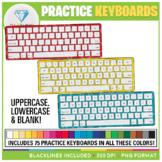 Rainbow Practice Keyboards Clip Art