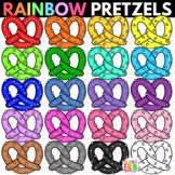Rainbow Pretzels Clipart