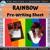 Rainbow Prewriting Sheet