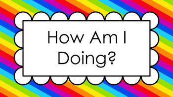 Rainbow Progression Scale Posters